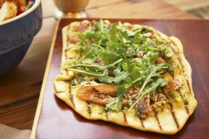 Grilled flatbread recipe with Prosciutto