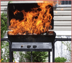 nonstick grill mats - barbecue on fire