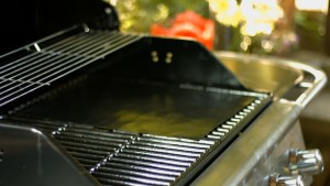 Barbecue Grill with a grill mat