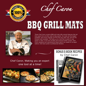 Chef Caron BBQ Grill Mats Packaging