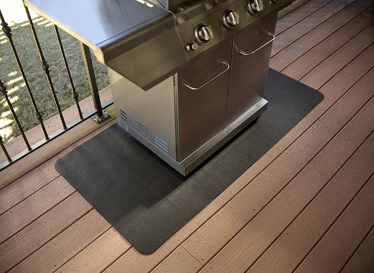 Splatter Mat Grill Mat Protects Your Patio Or Deck From Bbq Grease