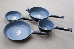 blue ceramic non stick pans